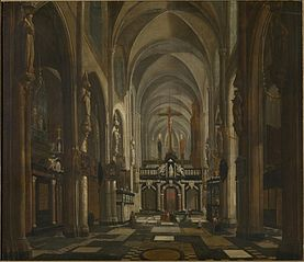 Interior of the former Saint Donatus Church in Bruges