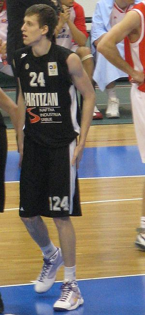 Jan Veselý - Veselý with Partizan in the Adriatic League in February 2009.
