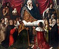 Jan provost, trittico di nostra signora della misericordia, 1512-15, 06.jpg
