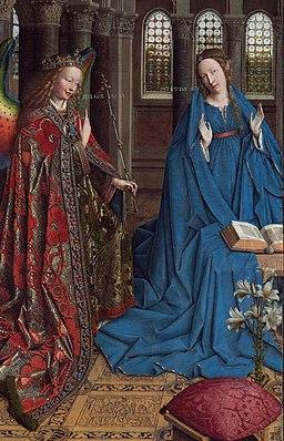 Jan van Eyck - The Annunciation - Google Art Project crop