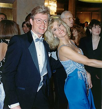 Jane Fonda - Fonda and photographer Alan Light following the 62nd Academy Awards in 1990