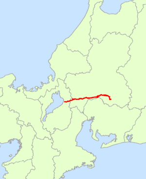 Japan National Route 21 - Image: Japan National Route 21 Map