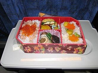 Ekiben - A typical 1000 Yen ekiben from Tokyo Station