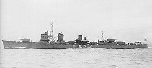 Japanese destroyer Isokaze (1939) - Isokaze