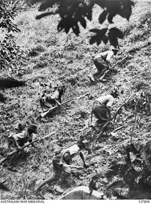 Battle of Muar - Japanese troops near Gemas.
