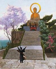 Japonais implorant une divinité