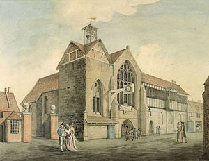 Whitefriars, Coventry - The Hospital of St. John the Baptist – the site of King Henry VIII School after 1558.