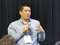 Jeff Mao at Hewlett Foundation education grantees meeting 2013.jpg