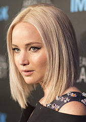 A close-up of Jennifer Lawrence