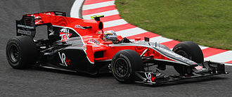 Manor Motorsport - Jérôme d'Ambrosio driving the Virgin VR-01 during the first free practice session at the 2010 Japanese Grand Prix.