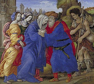 Joachim and Anne Meeting at the Golden Gate - Filippino Lippi, 1497