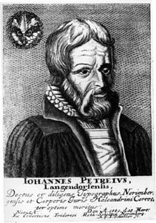 Johannes Petreius German printer