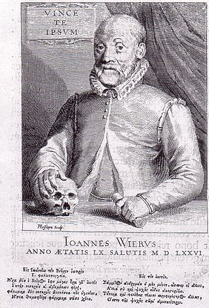 Johann Weyer - Engraving by Pieter Holsteyn II, 1660