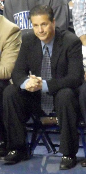 John Calipari - Calipari on the bench for the Kentucky Wildcats, 2009