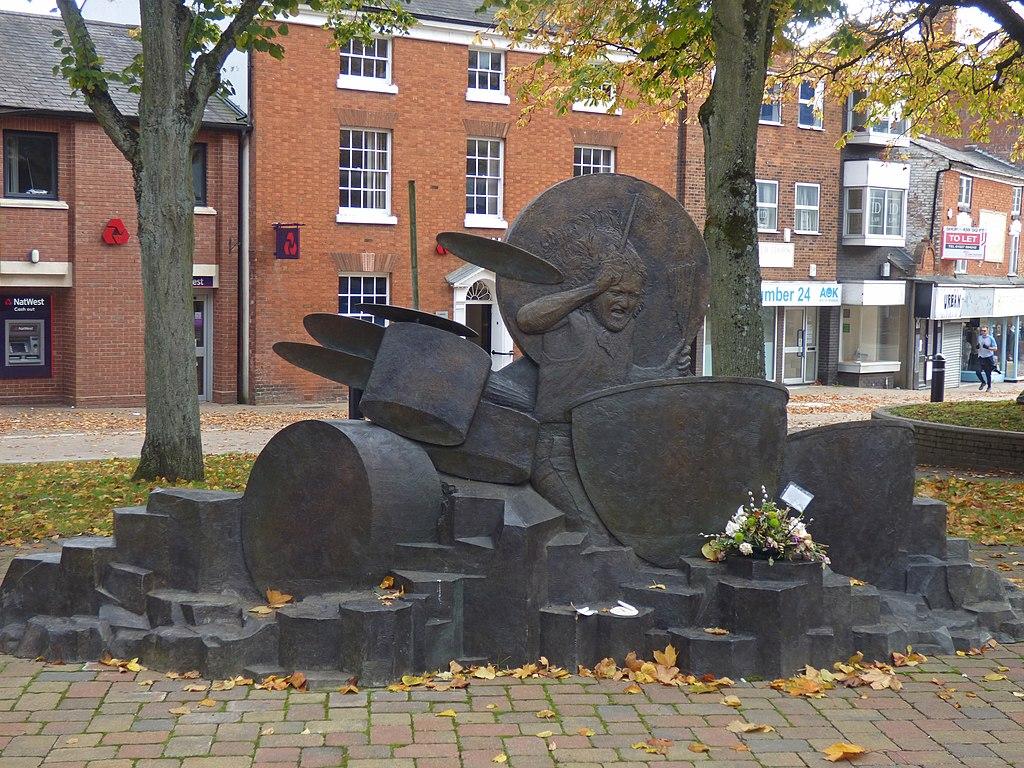 John Bonham statue in Mercian Square, Redditch (50482344491)