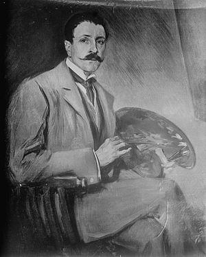 John Elliott (artist) - John Elliott Portrait by José Villegas Cordero, 1905