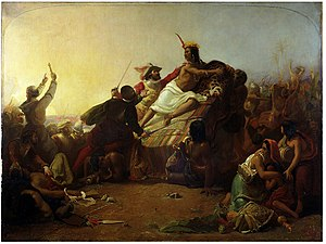 John Everett Millais - Pizarro seizing the Inca of Peru.jpg