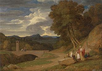 John White Abbott - John White Abbott An Italianate Landscape, oil, 1800