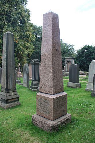 John Wilson (Scottish writer) - John Wilson's grave, Dean Cemetery