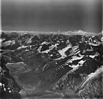 Johns Hopkins and Toyatte Glaciers, tidewater glacier terminus and hanging glaciers, August 31, 1977 (GLACIERS 5515).jpg