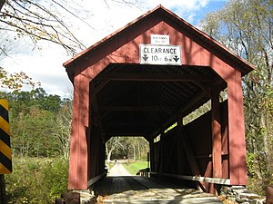 Johnson Covered Bridge No. 28 - The bridge in October 2012