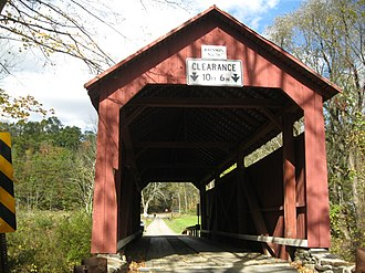 Johnson Covered Bridge No. 28 - The bridge in October 2012