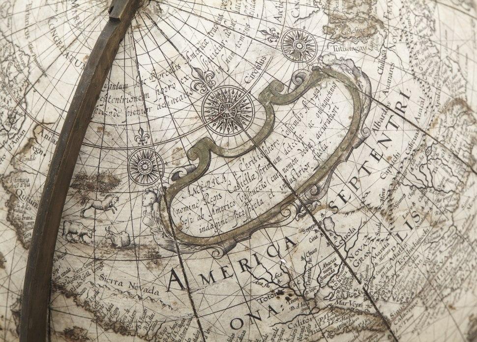 Jordglob, America, 1602 - Skoklosters slott - 102415