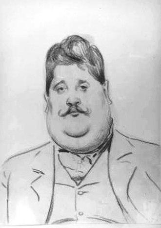 Joseph Urban - Caricature by Rudolf Swoboda (c. 1900)