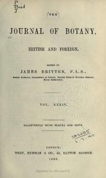 Journal of botany, British and foreign, Volume 34 (1896).djvu
