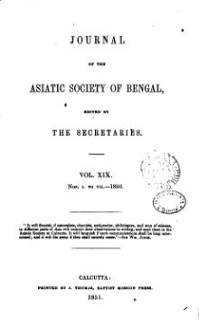 Journal of the Asiatic Society of Bengal Vol 19.djvu