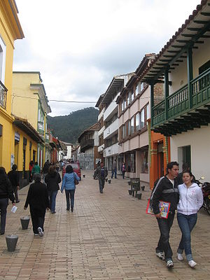 Zipaquirá - Typical street of Zipaquira