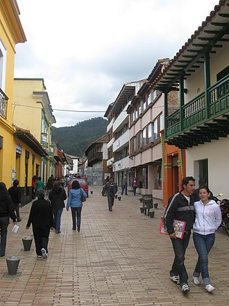 Zipaquirá - Typical street of Zipaquirá