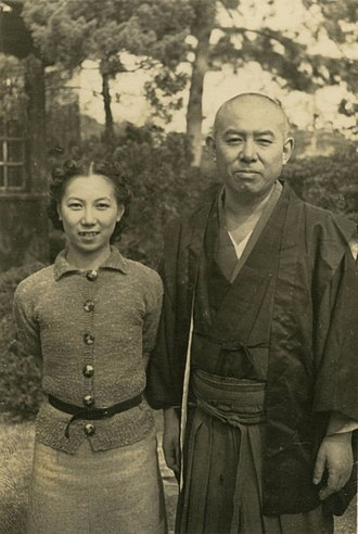 Jun'ichirō Tanizaki - Jun'ichirō with his daughter Ayuko Tanizaki in 1938.