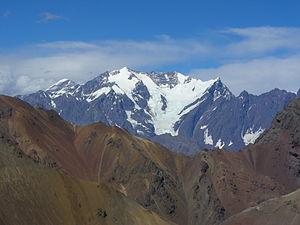 Nevado Juncal - Image: Juncal from Col des Libérateurs