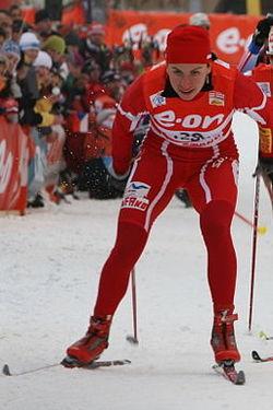 Justyna Kowalczyk at Tour de Ski trim