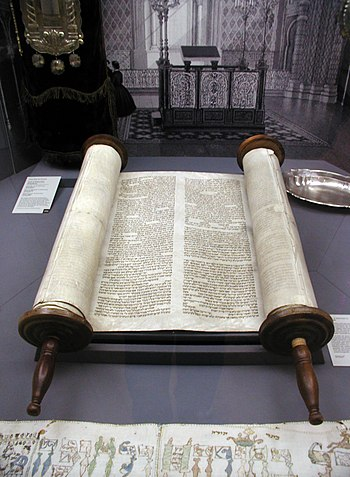 Torah inside of the former Glockengasse Synago...