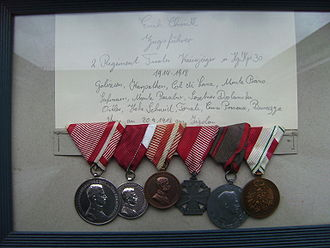 Royal Hungarian Honvéd - Medals for Valour 1914 - 1918