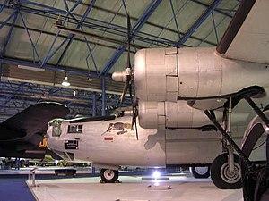 No. 228 Squadron RAF - A Liberator at the Royal Air Force Museum London at the Hendon Aerodrome.