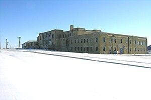 Kansas Aviation Museum - Image: Kam in snow