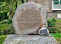 Kamień pamiątkowy pałacyk Michlera ul. Wolska 40.JPG