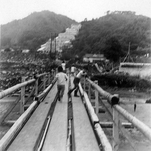 大仁橋の架け替えのために架けられた仮設橋