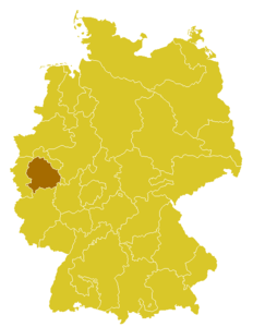 Map of the Archdiocese of Cologne