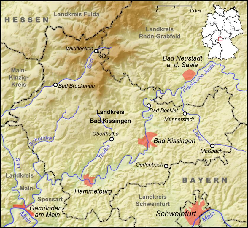 Bad KiГџingen Map