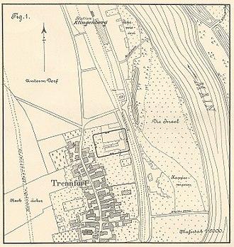 Trennfurt Roman Fort - Location of the fort in Trennfurt