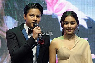 Kathryn Bernardo - Kathryn with Daniel at Celebrate Mega in Iceland 2016.