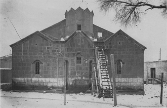 The 7th-century church of the Holy Mother of God, demolished in 1936 Katokhike before.png