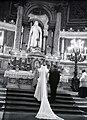 Katolikus eskűvő a Szent István-bazilikában, 1948. Fortepan 105182.jpg