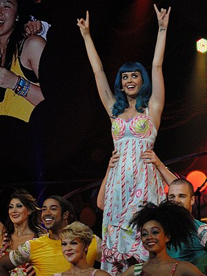 Last Friday Night (T.G.I.F.) - Perry performing the song on her California Dreams Tour