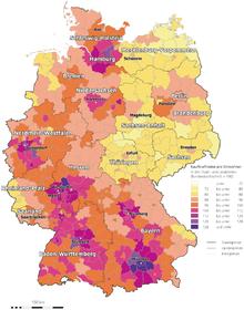 GfK Kaufkraftkarte® Germania 2011