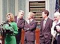 Kay Bailey Hutchison, William Bennett, Joe Lieberman, Sam Brownback, and John McCain.jpg